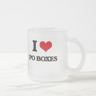 I Love Po Boxes Frosted Glass Mug
