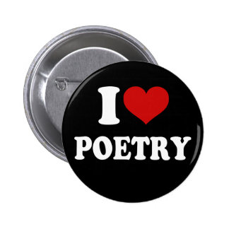 I Love Poetry 6 Cm Round Badge