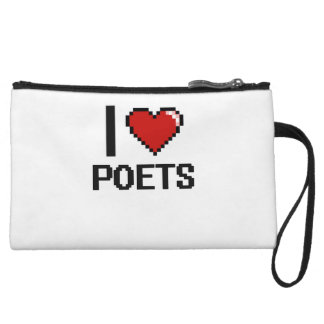 I love Poets Wristlet Clutches