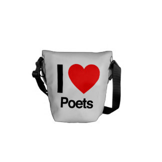 i love poets courier bags