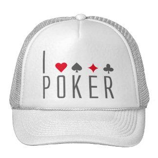 I Love Poker Retromützen