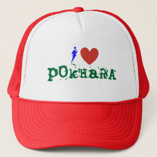 i love pokhara trucker hat