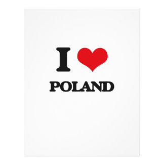I Love Poland Personalized Flyer