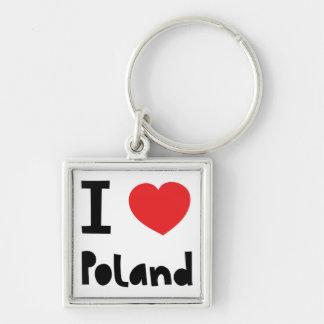 I love Poland Key Ring