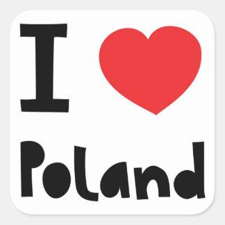 I love Poland Square Sticker