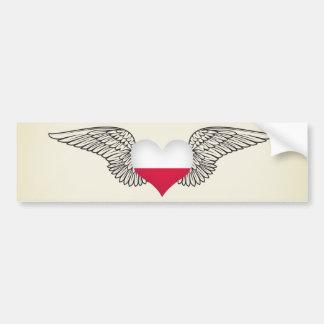 I Love Poland -wings Bumper Sticker