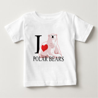 I Love Polar Bears Baby's Baby T-Shirt