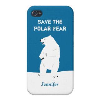I Love Polar Bears - Save the Polar Bear iPhone 4/4S Cover