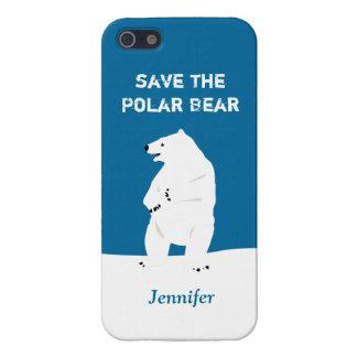 I Love Polar Bears - Save the Polar Bear Cover For iPhone 5