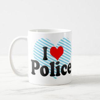 I love Police Basic White Mug