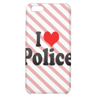 I love Police Cover For iPhone 5C