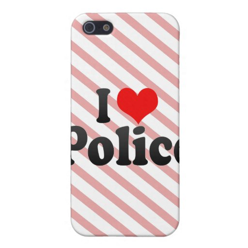I love Police iPhone 5 Cases