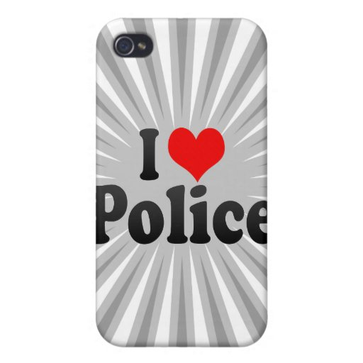I love Police Cover For iPhone 4