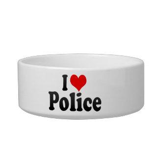 I love Police Pet Food Bowl