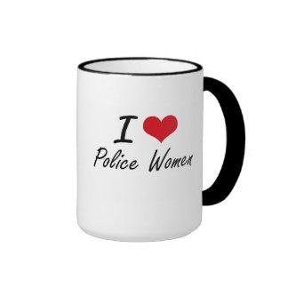 I love Police Women Ringer Mug
