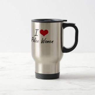 I love Police Women Stainless Steel Travel Mug