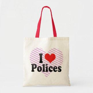I Love Polices Tote Bag