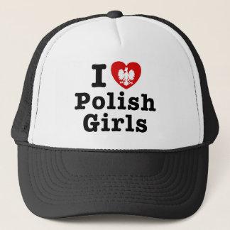 I Love Polish Girls Trucker Hat