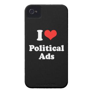 I LOVE POLITICAL ADS.png Blackberry Cases