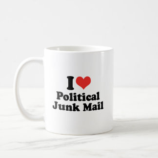 I LOVE POLITICAL JUNK MAIL - .png Basic White Mug