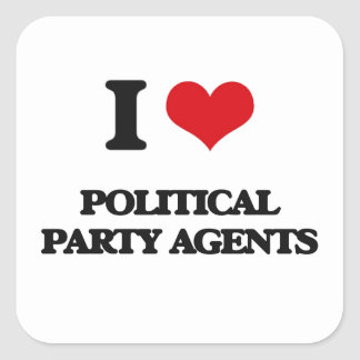 I love Political Party Agents Sticker