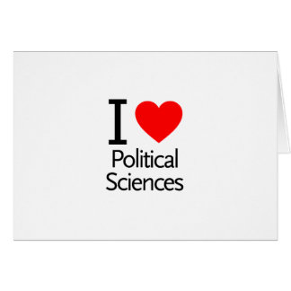 I Love Political Science Greeting Cards