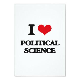 "I Love Political Science 3.5"" X 5"" Invitation Card"