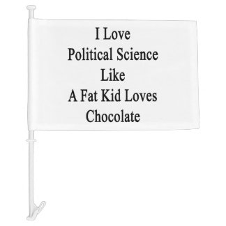 I Love Political Science Like A Fat Kid Loves Choc Car Flag