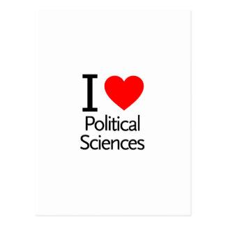 I Love Political Science Postcards