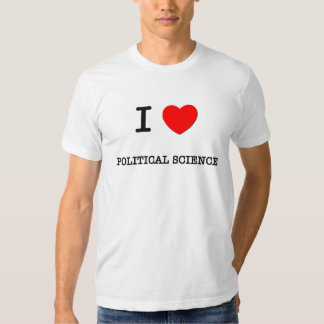 I Love POLITICAL SCIENCE T Shirts