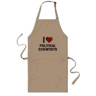 I love Political Scientists Long Apron
