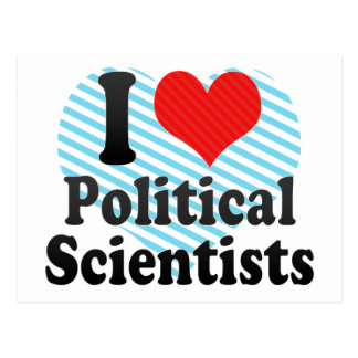 I Love Political Scientists Postcard