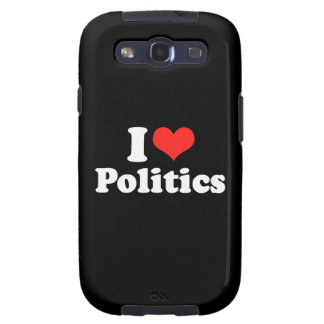 I LOVE POLITICS png Samsung Galaxy S3 Case