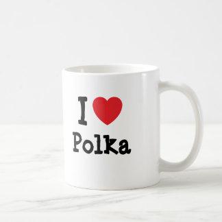 I love Polka heart custom personalized Mug