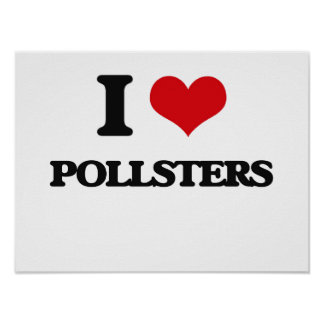 I Love Pollsters Poster