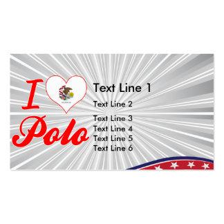 I Love Polo, Illinois Business Card