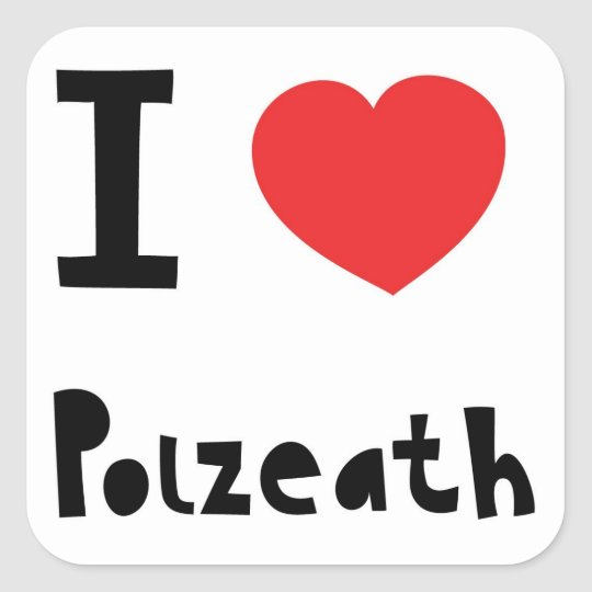 I love Polzeath Square Sticker