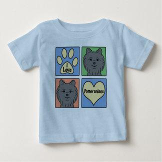 I Love Pomeranians Baby T-Shirt
