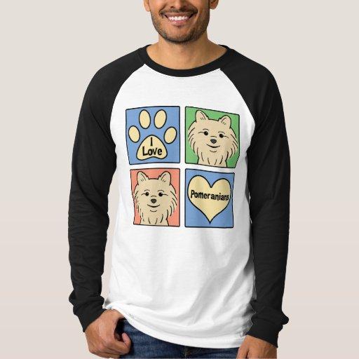 I Love Pomeranians T Shirts