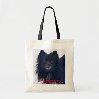 """I LOVE Pomeranians!"" Watercolor Portrait Tote"