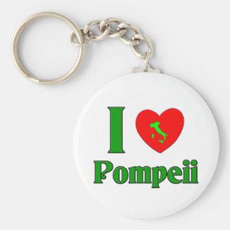 I Love Pompeii Italy Basic Round Button Key Ring