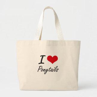 I Love Ponytails Jumbo Tote Bag