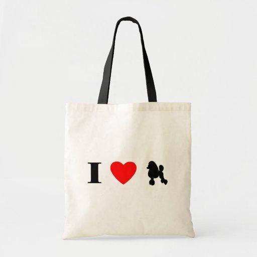 I Love Poodles Bag