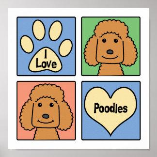 I Love Poodles Poster