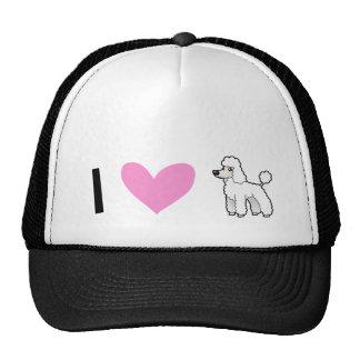 I Love Poodles (puppy cut) Cap