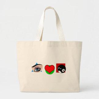 I love pool jumbo tote bag