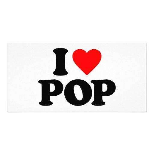 I LOVE POP PHOTO GREETING CARD