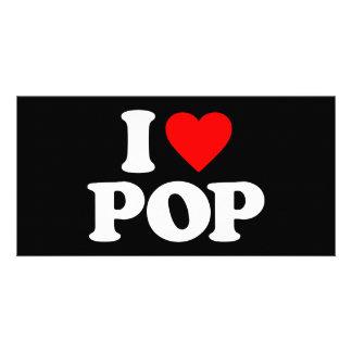 I LOVE POP CUSTOM PHOTO CARD