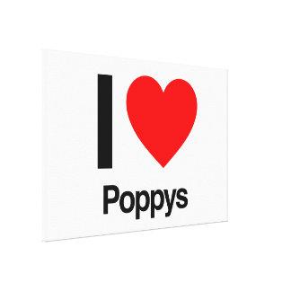 i love poppys canvas print