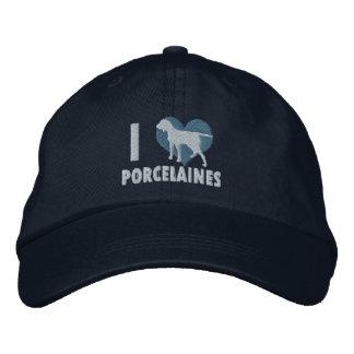 I Love Porcelaines Embroidered Hat (Blue)